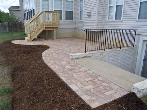 How To Build A Patio Deck With Pavers Brick Paver Patio And Deck In Fredericksburg Va Stafford Nursery