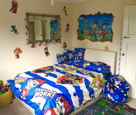 Paw Patrol Room Decor Toddler Paw Patrol Theme Room From Single Bed To Baby On Bedding Sets Childrens For