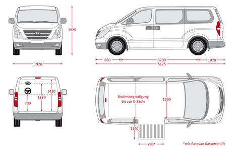 hyundai iload cargo dimensions paravan hyundai h1