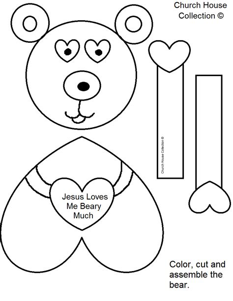craft templates free craft jesus you beary much
