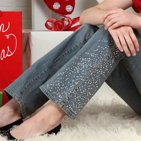 como decorar unos jeans pantalones de moda 187 pantalones con pedrer 237 a 2