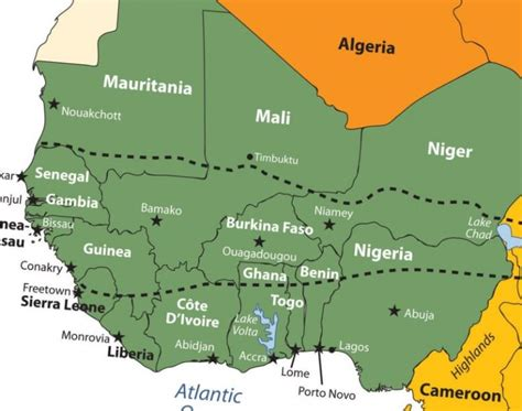 west africa map capitals interesting facts questions and answers learn with ask