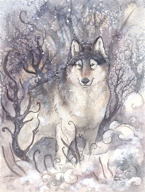 Seven White Wolves wolf spirit by kitsune seven on deviantart