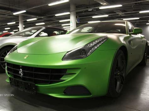 matte green ferrari ferrari ff turns matte green in russia autoevolution