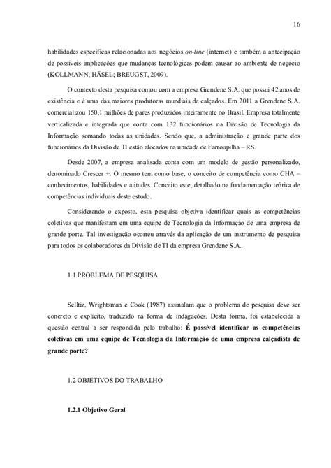 COMPETÊNCIAS COLETIVAS EM UMA EQUIPE DE TECNOLOGIA DA