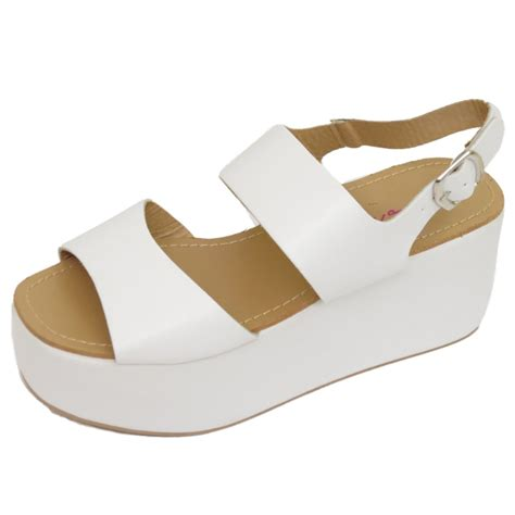 Wedges Heells Boots Flat Shoes 4 dolcis white flat form platform chunky sandals wedge shoes sizes 3 8 ebay