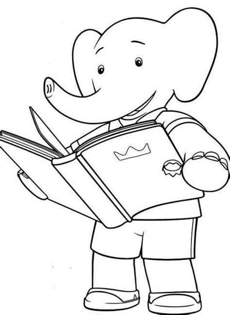 Babar Print Coloring Home Babar Coloring Pages