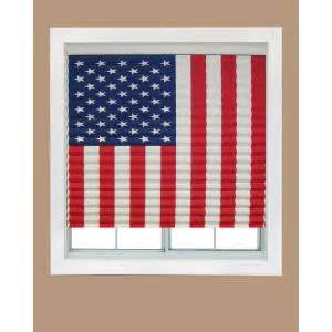 Redi Shade Temporary Blinds Redi Shade Paper American Flag Window Shade 32 In W X