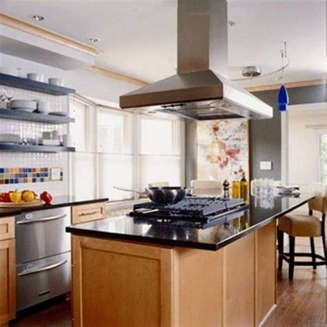 kitchen island installation 48 best i s l a n d range hoods images on pinterest
