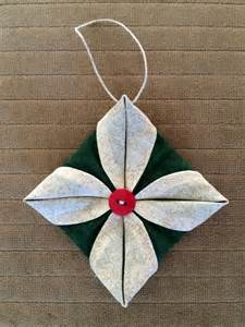 corners of my life folded fabric ornament