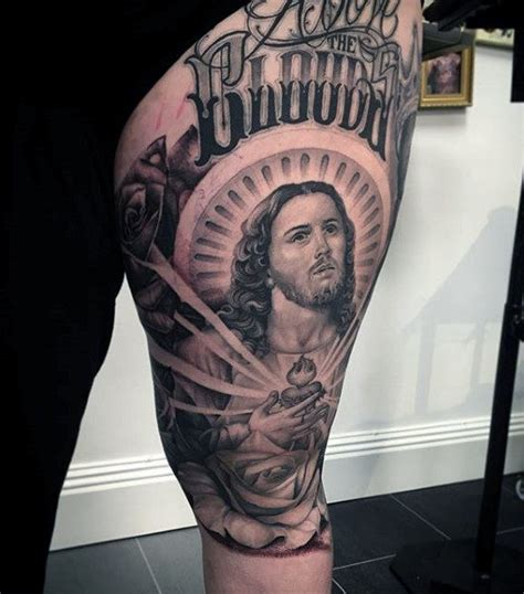 jesus gun tattoo 100 jesus tattoos for men cool savior ink design ideas