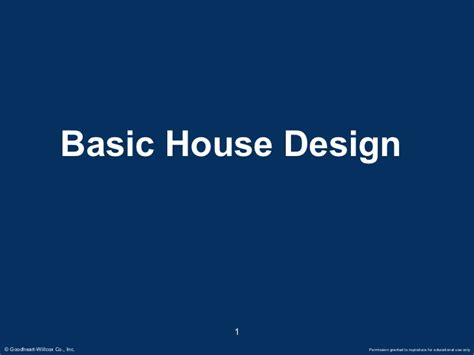 design basics inc basic house designs