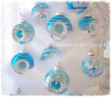 aqua blue christmas lights aqua blue glass christmas tree ornament white frosted design