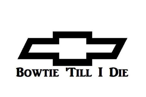 Trucker United Till I Die 2 bowtie till i die chevy vinyl decal by cottoncountryvinyl on etsy