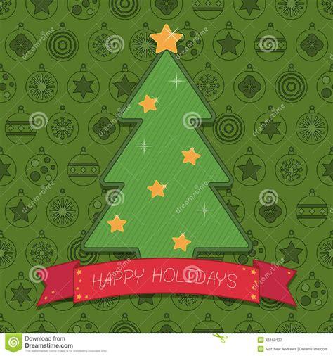 christmas tree ribbon pattern christmas tree decoration stock vector image 46168127