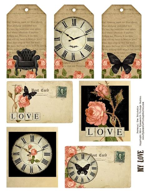 printable tags vintage 1369 best free printables images on pinterest free