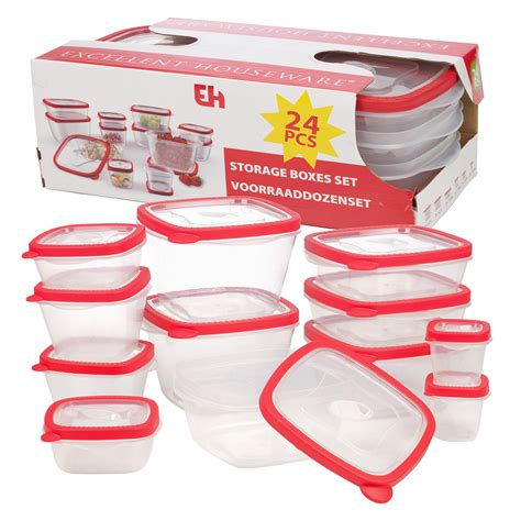 plastic containers for food storage 12 bpa free plastic food storage box containers lids set