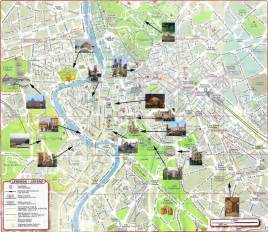 map of rome with attractions rome rome