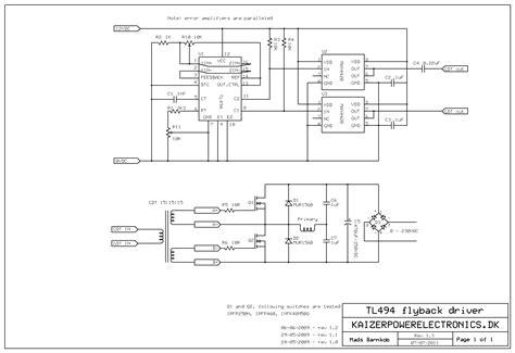 flyback transformer wiring diagram k