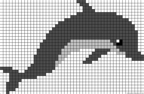 dolphin bead patterns dolphin perler bead pattern pearler bead