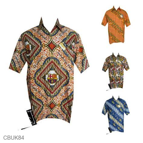 Baju Inner Bola baju kemeja batik bola motif barcelona promo kemeja lengan pendek murah batikunik
