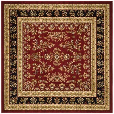 Safavieh Lyndhurst Red Black 6 Ft X 6 Ft Square Area Rug Rugs 6 Ft