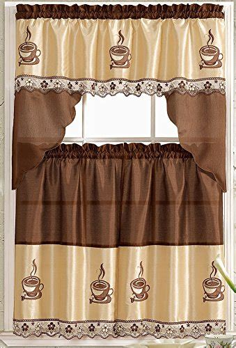 kitchen curtains with coffee theme coffee kitchen curtains