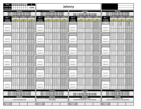 strength and conditioning templates platinum strength conditioning excel template excel