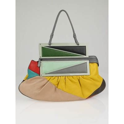 Fendi Haircalf Convertible To You Bag by Fendi Multicolor Leather Convertible To You Clutch Bag
