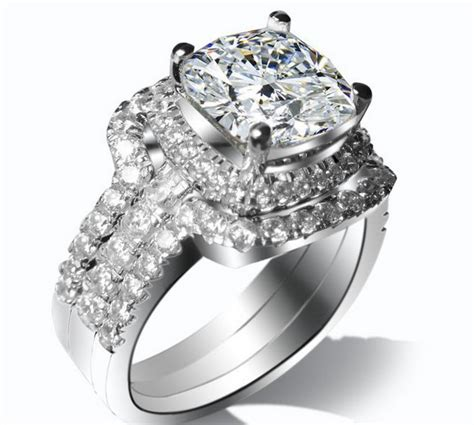 Pretty White 1 Set 5 Item grace jewelry for solid 14k white gold pretty 1ct synthetic engagement bridal sets