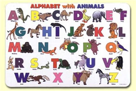 printable alphabet placemat abcs the alphabet song illustrated sing books with