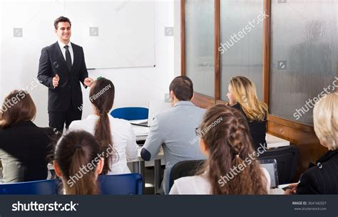 classroom layout for adults group attentive adult students teacher classroom stock