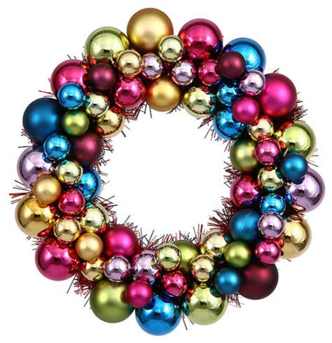 shatterproof christmas ball ornament wreath by jessica