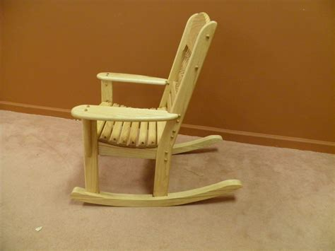 Handmade Wooden Chairs - made childrens rocking chair by windy woods custom