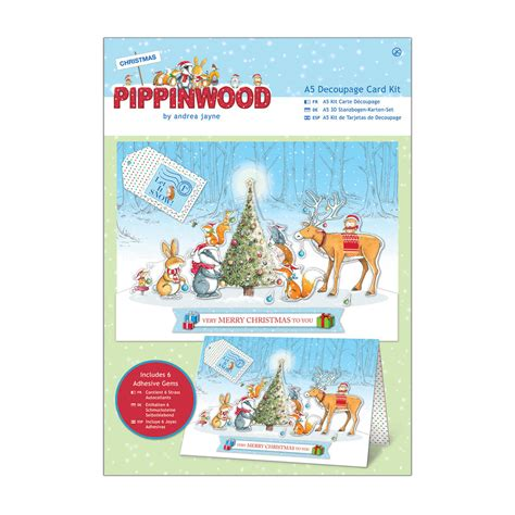 Decoupage Card Kits - a5 decoupage card kit linen pippinwood pma