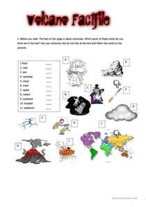 volcano factfile worksheet free esl printable worksheets