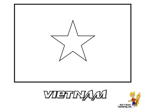 vietnam flag free coloring pages