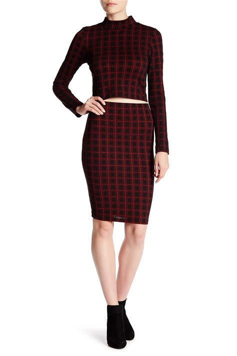 necessary objects checkered pencil skirt nordstrom rack