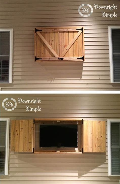 diy outdoor tv cabinet downright simple outdoor tv cabinet for 50 quot tv box frame