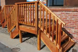 Interior Stair Rail Spec Deck Pre Built Deck The Redwood Store