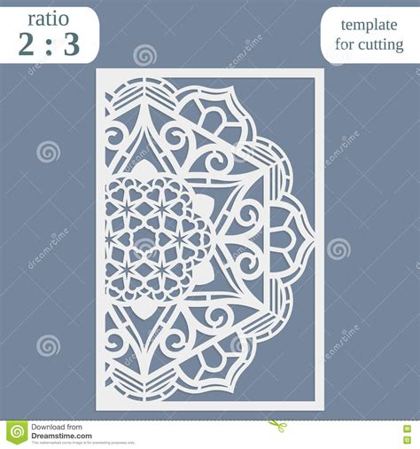 basic card cuts cardstock template laser cut wedding card template paper openwork greeting