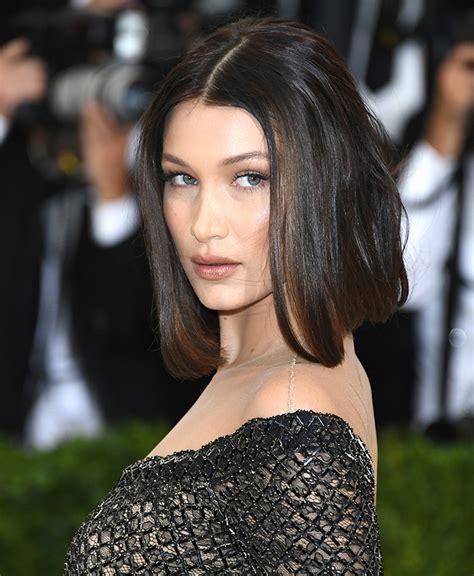 bella hadid you need to see bella hadid s met gala haircut lob