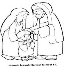 Hannah Brought Samuel To Eli Bible Colors Church  sketch template