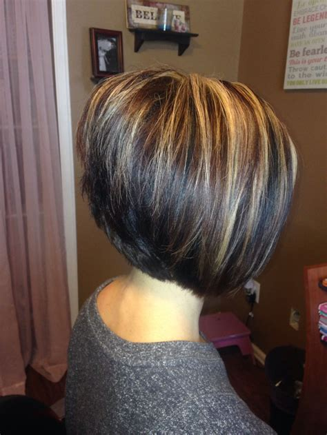 Photos Of An A Line Stacked Haircut | a line bob stacked short hairstyle 2013