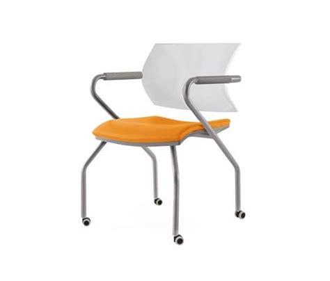 ufficio aire sedia su ruote per sale riunioni idfdesign