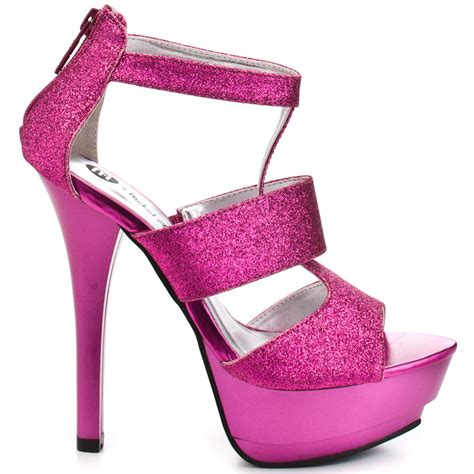 pink glitter high heels michael antonio s pink ratio pink glitter for 41 79