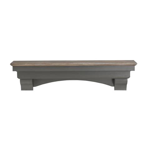 Cap Shelf Mantel by Pearl Mantels The Hadley 4 Ft Cottage Distressed Cap