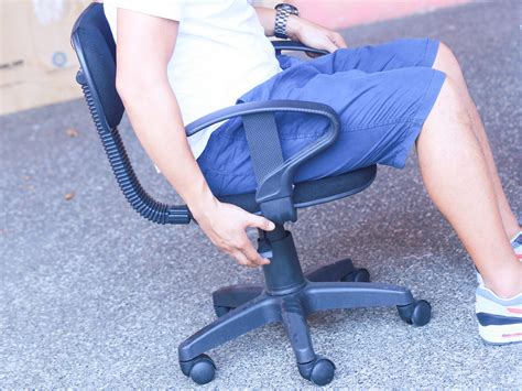 Squeaky Office Chair by How To Fix A Squeaky Desk Chair 12 Steps Wikihow