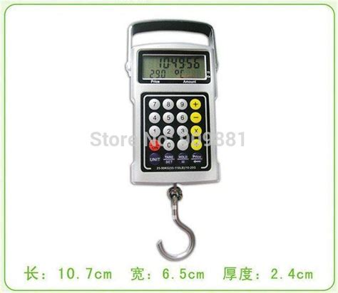 picture hanging calculator 50kg 20g portable digital hanging scale lcd electronic fishing hook scales calculator clock