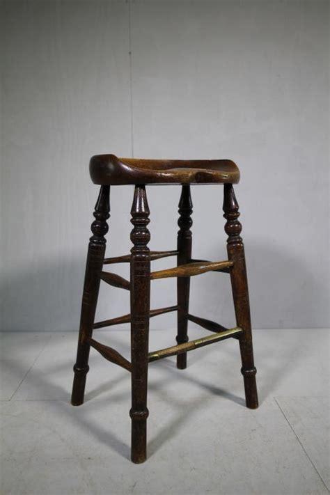 Antique Oak Bar Stools by Bum Shaped 19th Century Antique Oak Bar Stool 452487